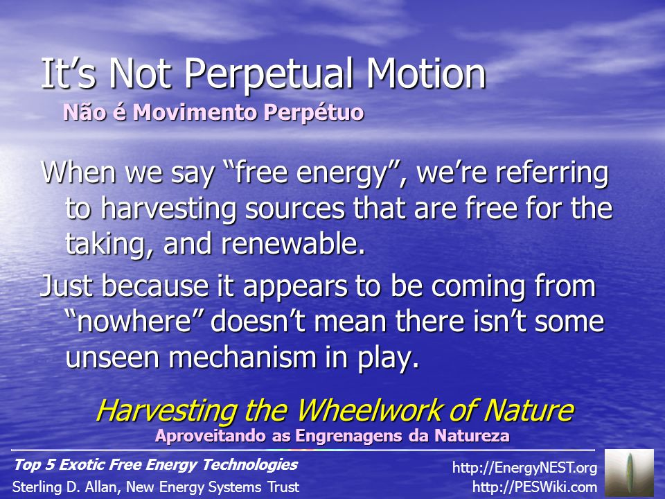 Free Energy and Consciousness http://PESWiki.comSterling D.