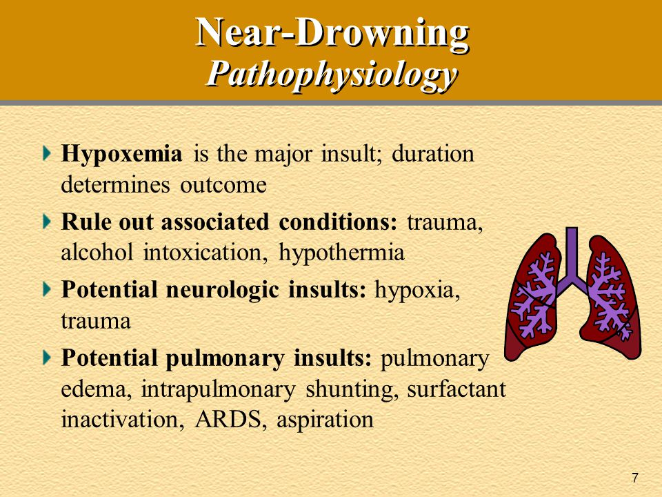 8 Near-Drowning BLS at Scene  Treat as traumatic event; immobilize cervical spine  Immediate BLS required Hypoxia leads to respiratory and cardiac arrest (bradycardia or VT/VF) Begin conventional BLS (airway, breathing, circulation) Routine use of maneuvers to relieve foreign-body airway obstruction NOT recommended