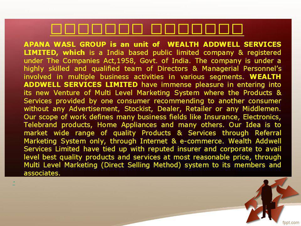 Be a Part of our mission now, Then get lifetime income & Happiness. Wealth Addwell Team.