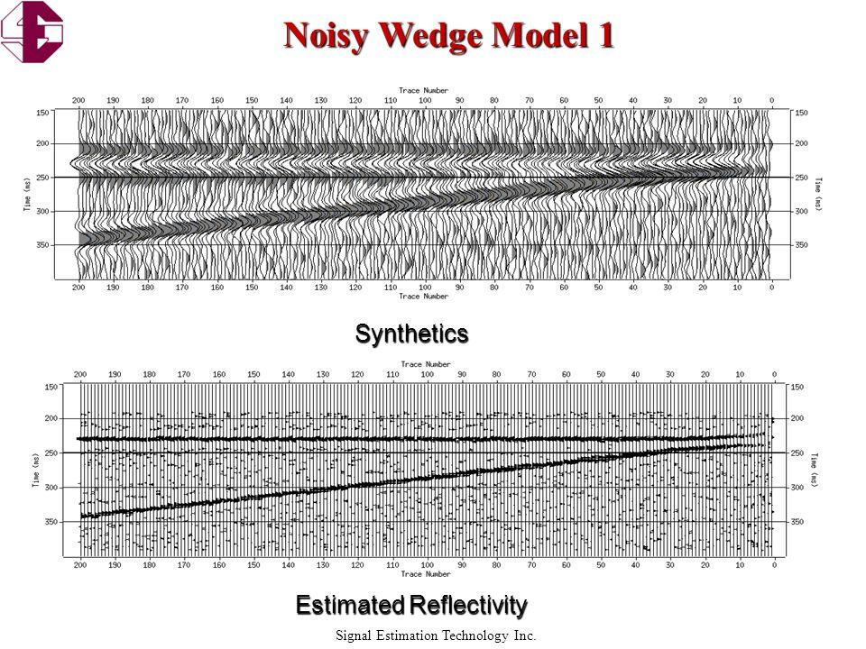 Signal Estimation Technology Inc. Noisy Wedge Model 2 Estimated Reflectivity Synthetics