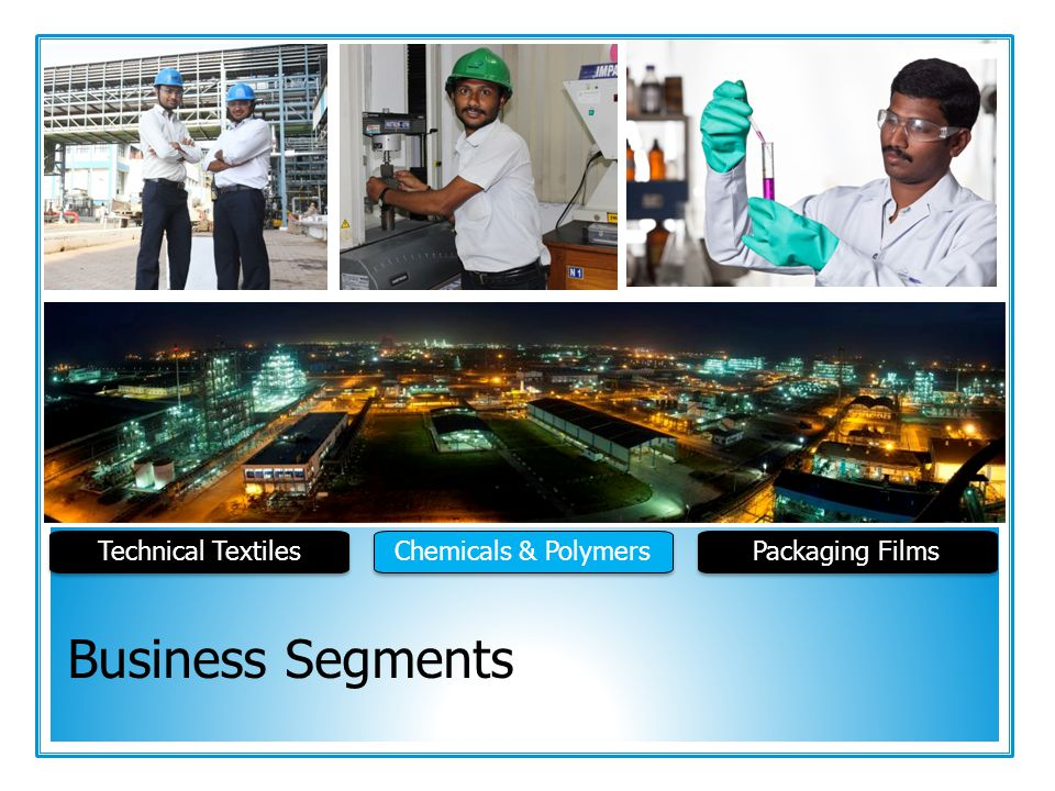Technical Textiles Chemicals & Polymers Packaging Films Business Segments