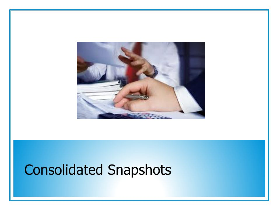 Consolidated Snapshots