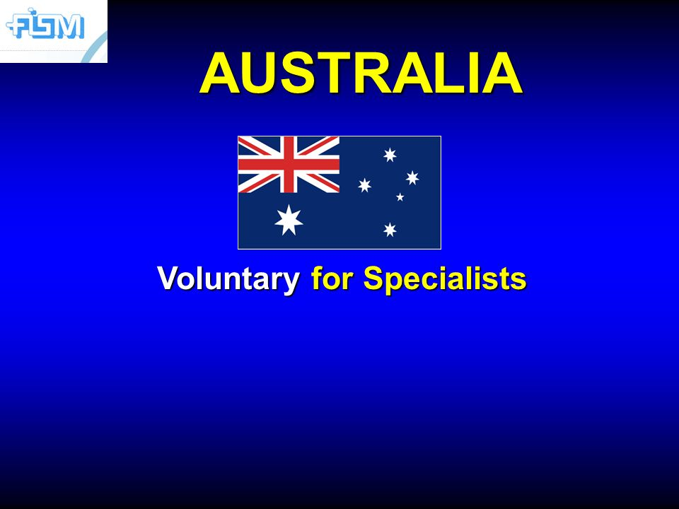 AUSTRALIA Voluntary for Specialists