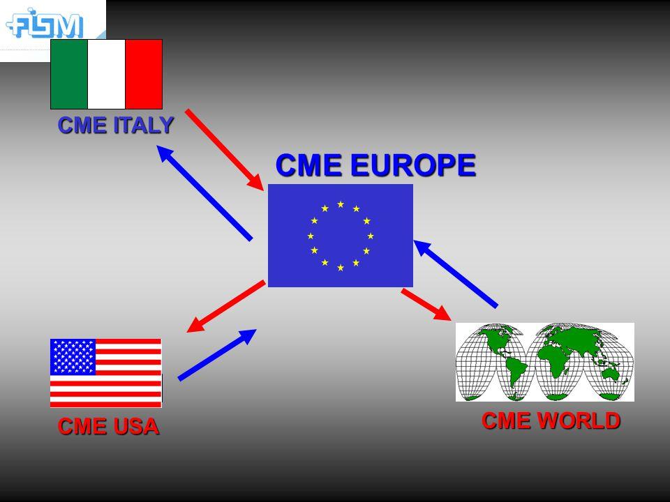 CME EUROPE CME WORLD CME ITALY usa CME USA