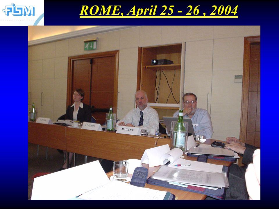 ROME, April 25 - 26, 2004