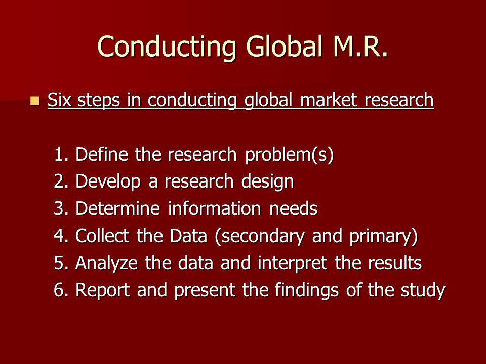 Conducting Global M.R.