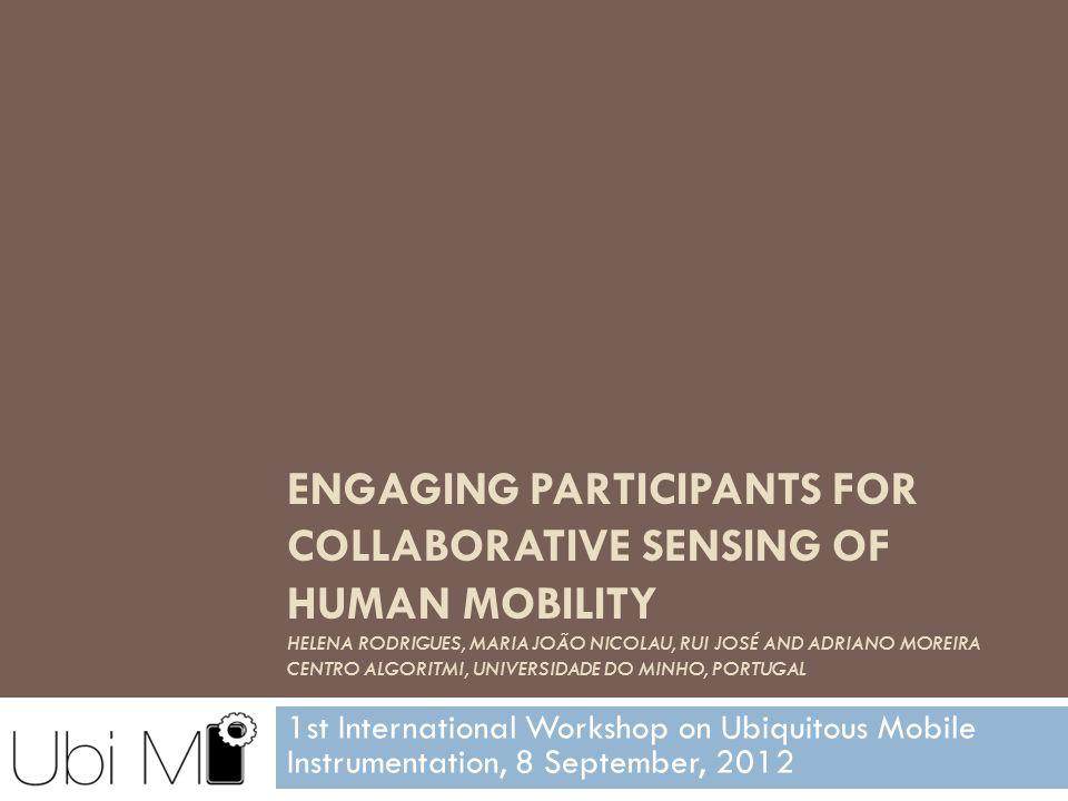 1st International Workshop on Ubiquitous Mobile Instrumentation, 2012 Outline 2  The problem  The Epi application  Preliminary results  Discussion