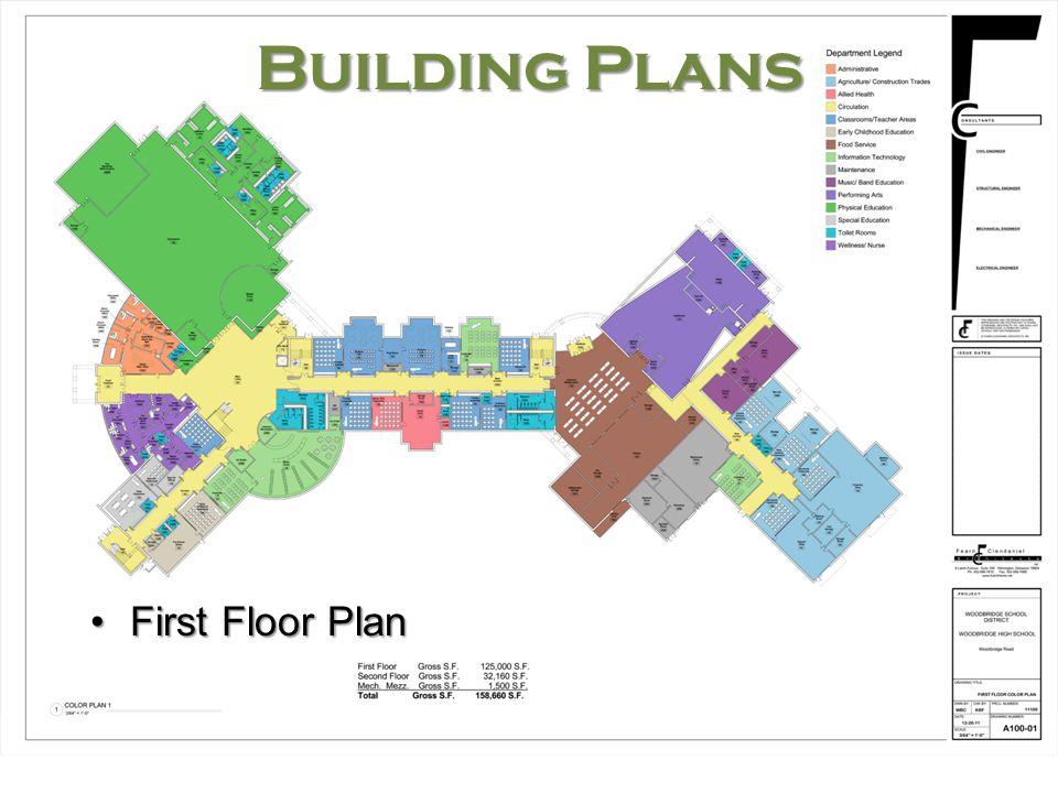 Woodbridge High School Building Plans First Floor PlanFirst Floor Plan