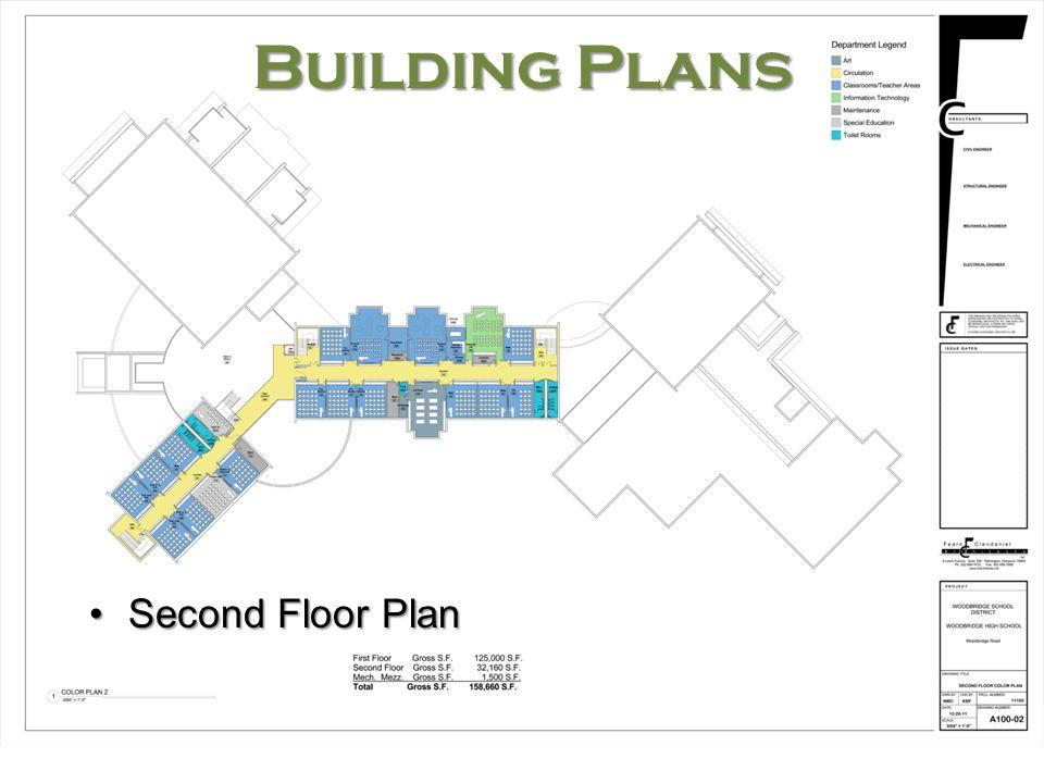 Woodbridge High School Building Plans Second Floor PlanSecond Floor Plan