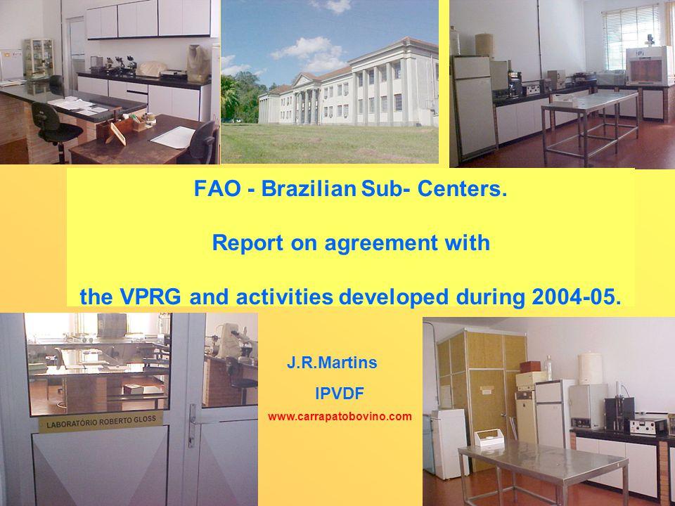 FAO - Brazilian Sub- Centers.
