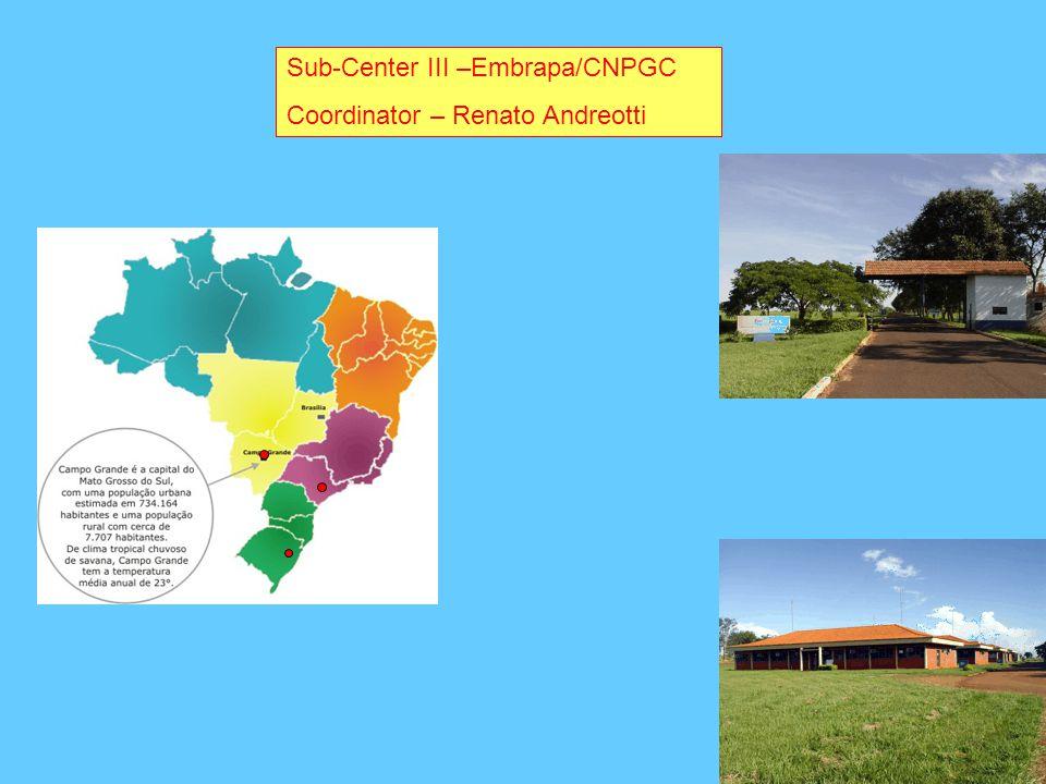 Sub-Center III –Embrapa/CNPGC Coordinator – Renato Andreotti