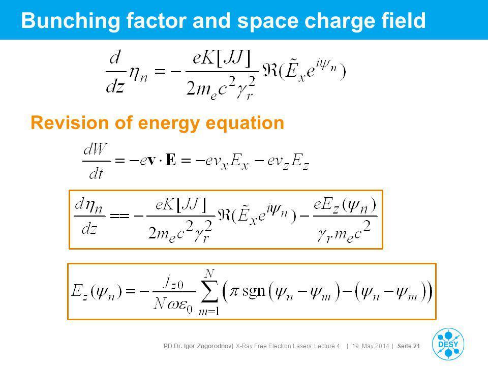 PD Dr. Igor Zagorodnov| X-Ray Free Electron Lasers.