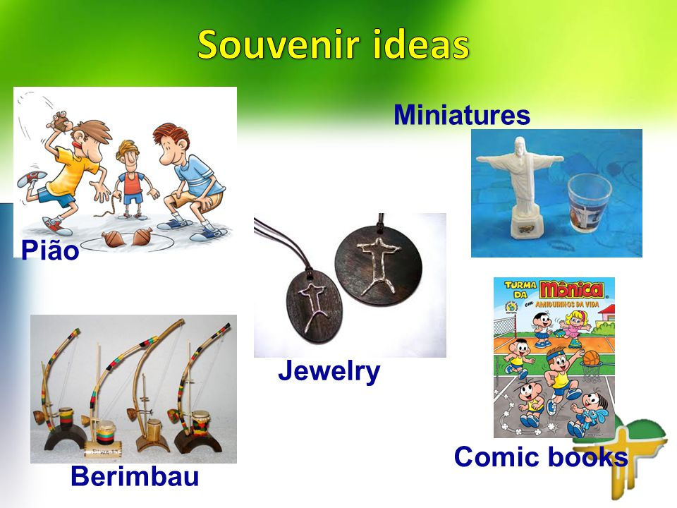 Pião Comic books Berimbau Miniatures Jewelry