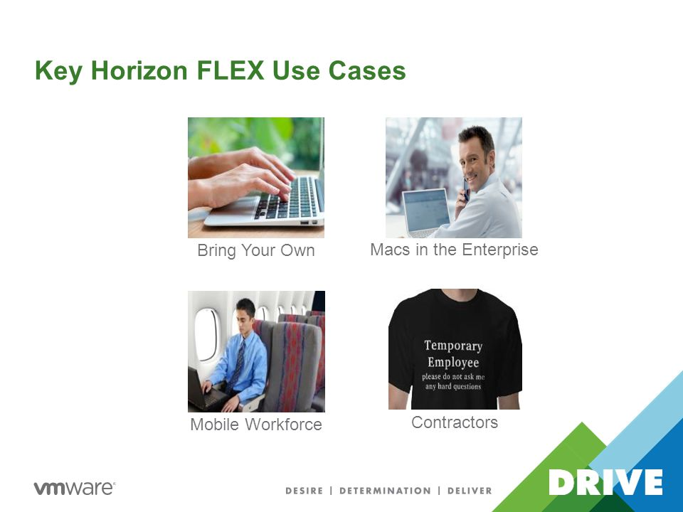 Key Horizon FLEX Use Cases Mobile Workforce Contractors Bring Your Own Macs in the Enterprise