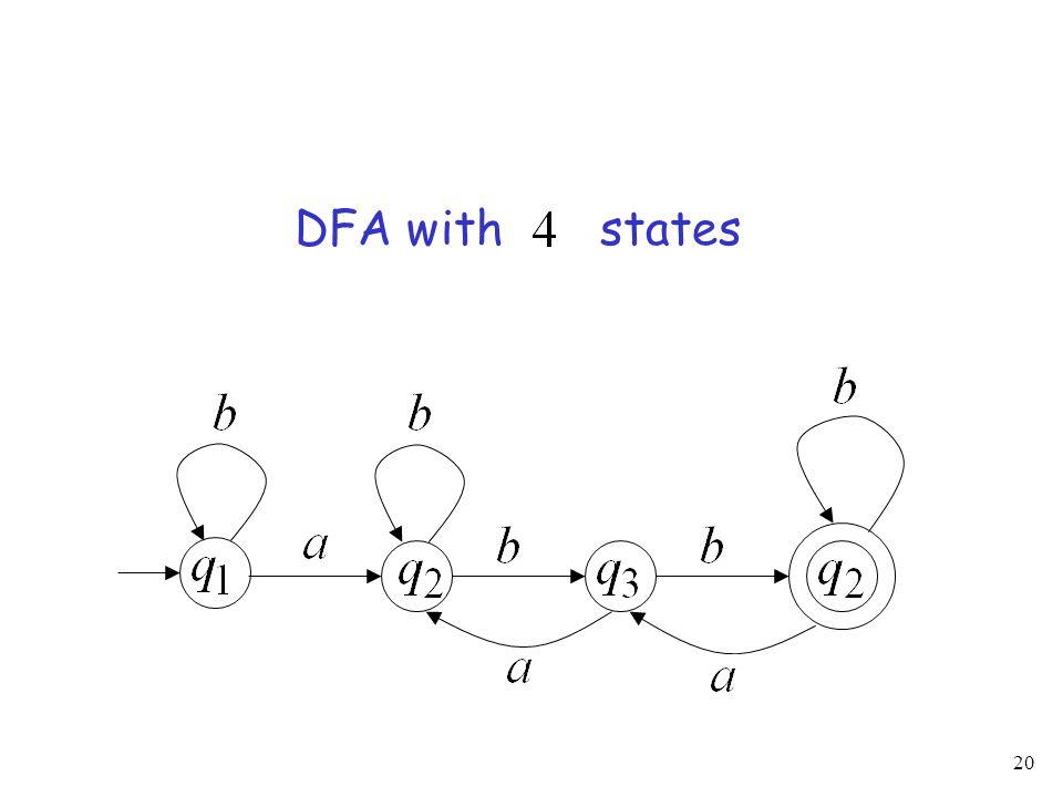 20 DFA with states