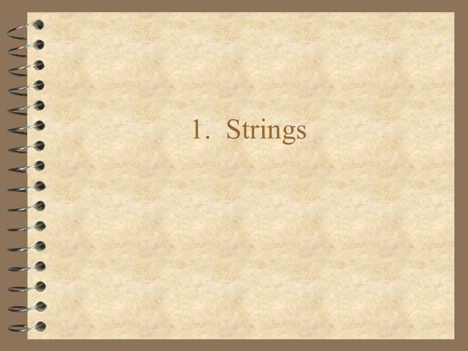 1. Strings