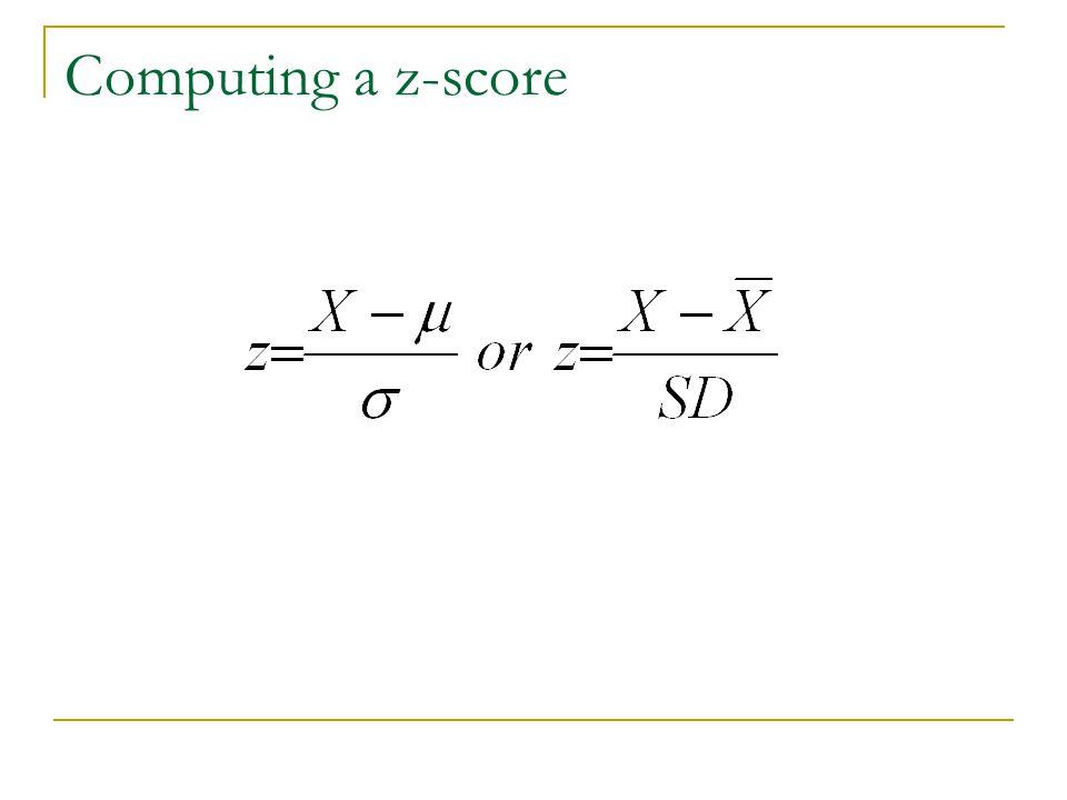 Computing a z-score