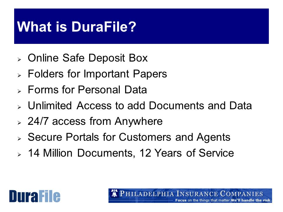 What is DuraFile.