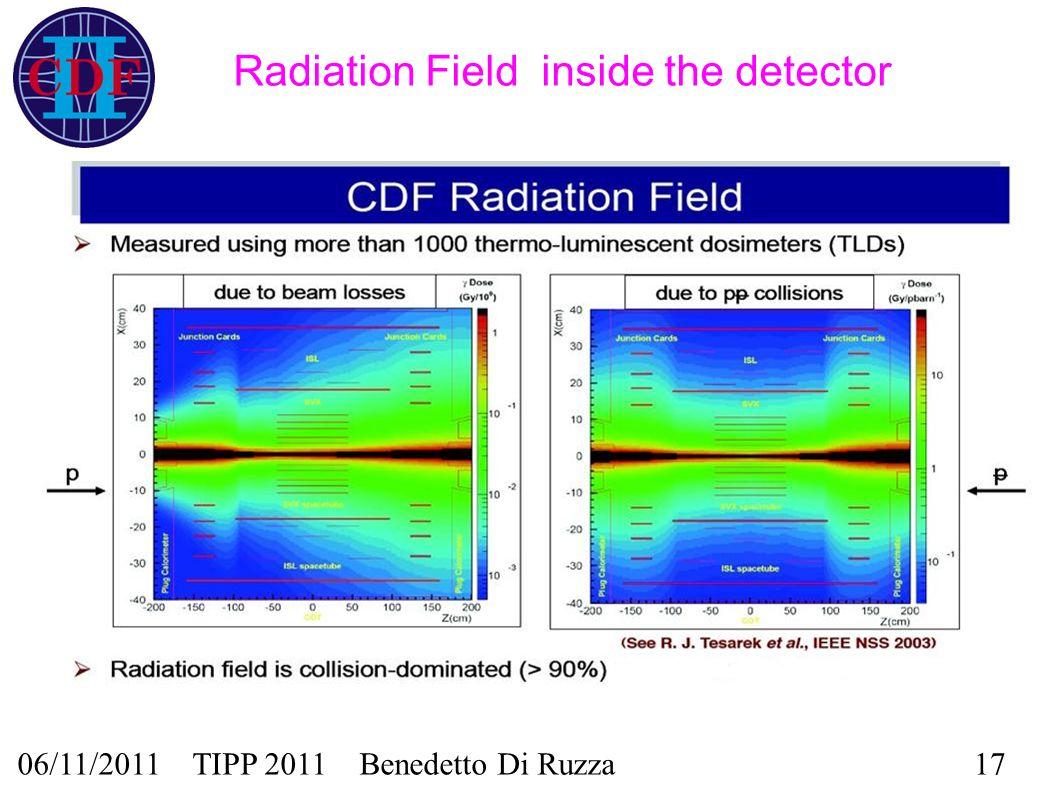 06/11/2011 TIPP 2011 Benedetto Di Ruzza17 Radiation Field inside the detector