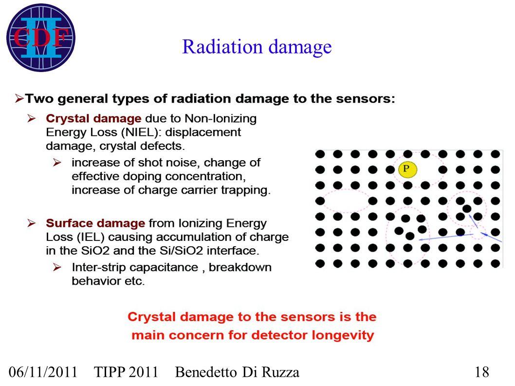 06/11/2011 TIPP 2011 Benedetto Di Ruzza18 Radiation damage