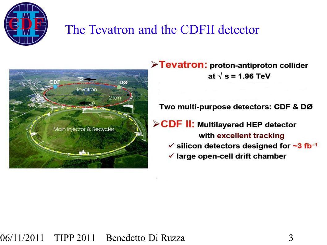 06/11/2011 TIPP 2011 Benedetto Di Ruzza3 The Tevatron and the CDFII detector