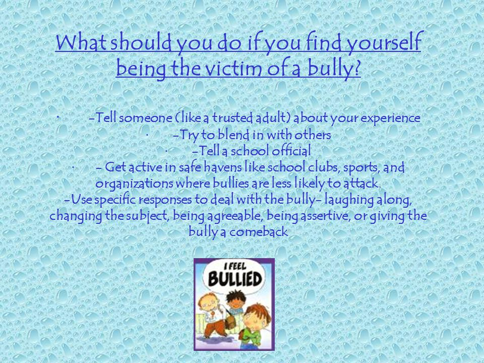 What should you do if you have noticed bullying behaviors in yourself.