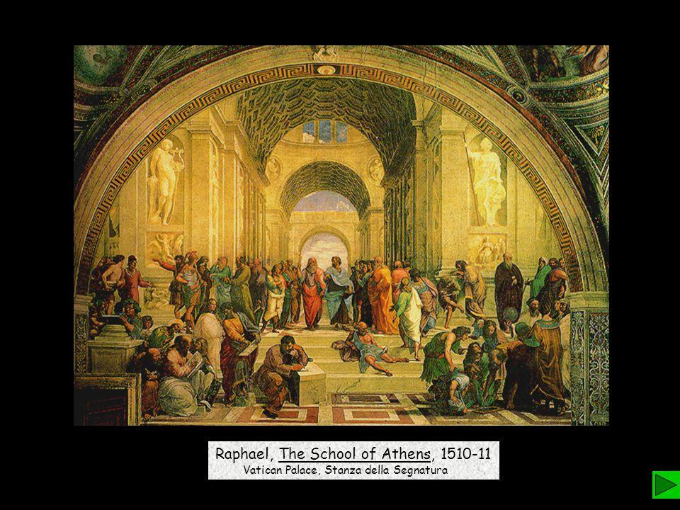 Raphael, The School of Athens, 1510-11 Vatican Palace, Stanza della Segnatura