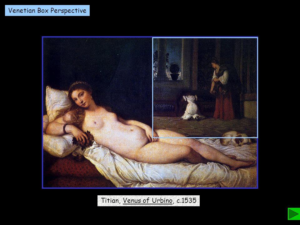 Titian, Venus of Urbino, c.1535 Venetian Box Perspective