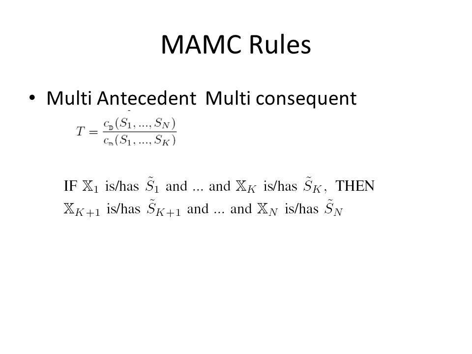 MAMC Rules Multi Antecedent Multi consequent