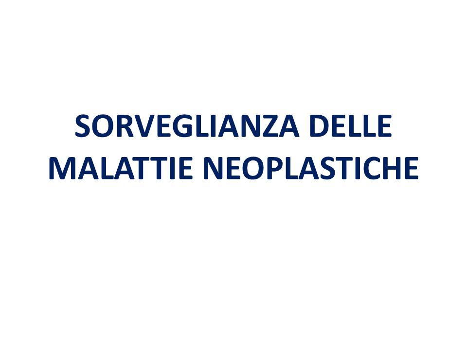 SORVEGLIANZA DELLE MALATTIE NEOPLASTICHE