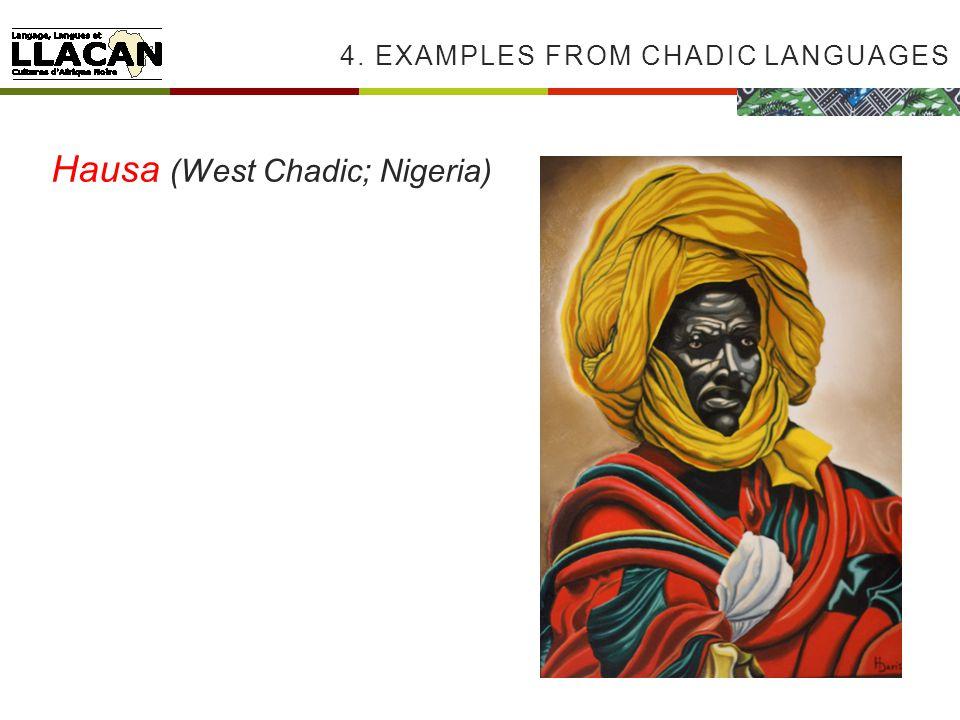 4. EXAMPLES FROM CHADIC LANGUAGES Hausa (West Chadic; Nigeria)