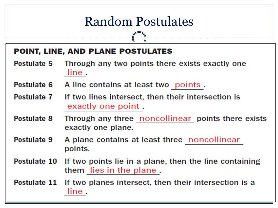 Random Postulates