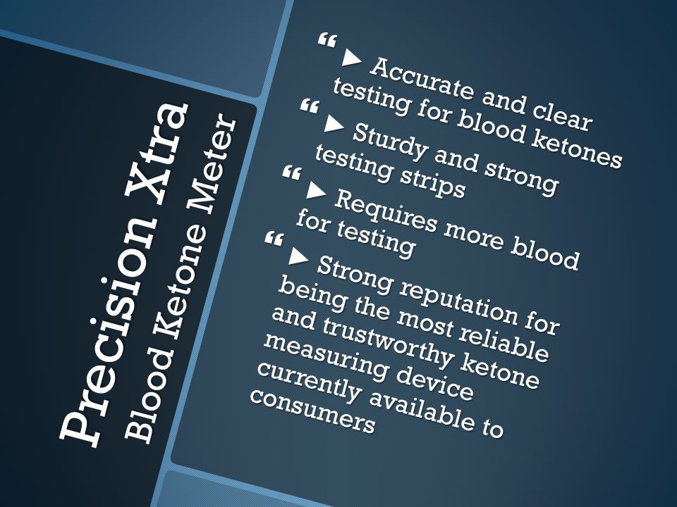 Precision Xtra Blood Ketone Meter