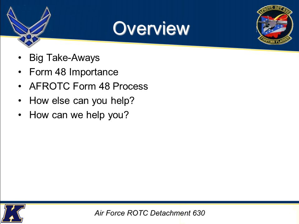 Big Take-Aways A crisis on a cadet's part does not constitute an emergency on the advisors.