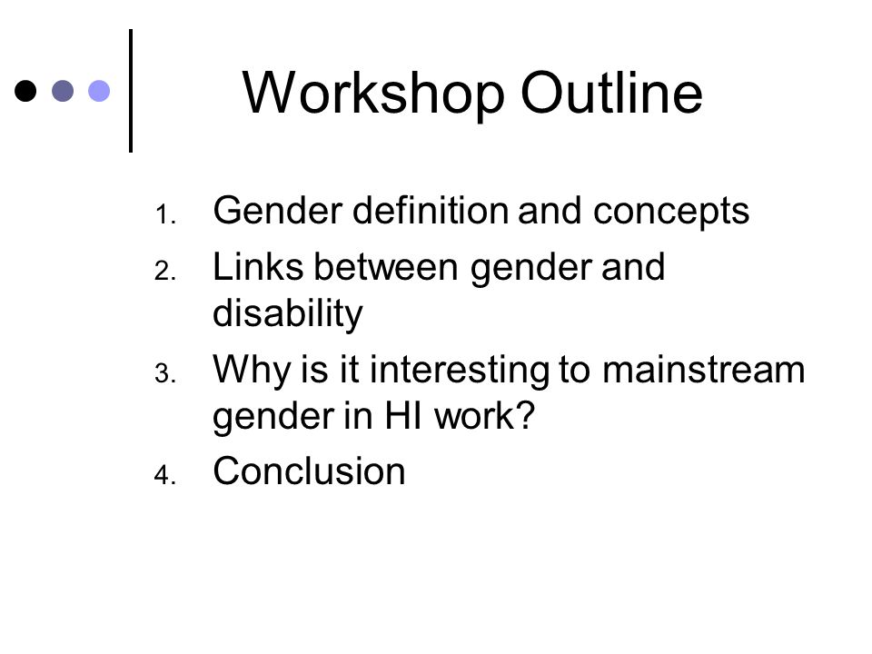 Everything you always wanted to know about gender Sensitization Workshop Handicap International