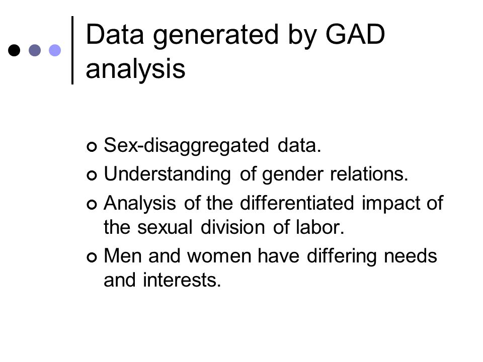 2- GAD Approach An analytic framework