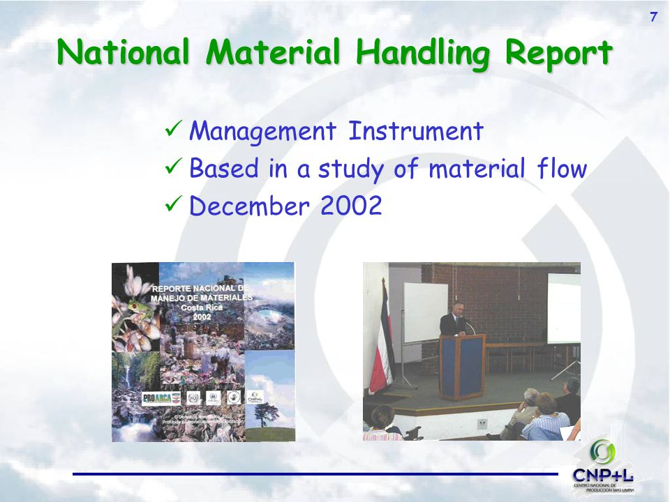 7 National Material Handling Report Management Instrument Based in a study of material flow December 2002