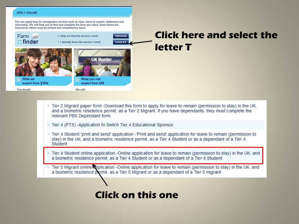 Click here and select the letter T Click on this one