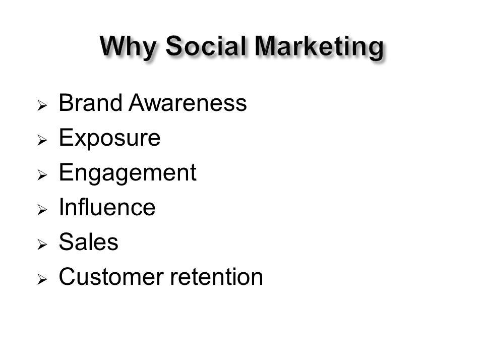  Brand Awareness  Exposure  Engagement  Influence  Sales  Customer retention