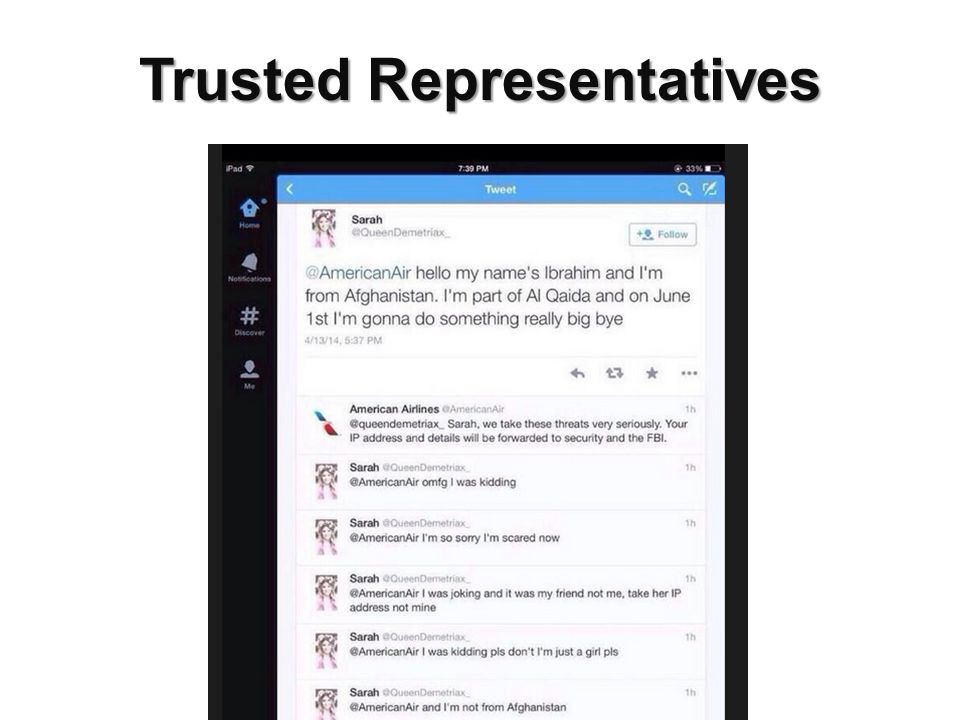 Trusted Representatives