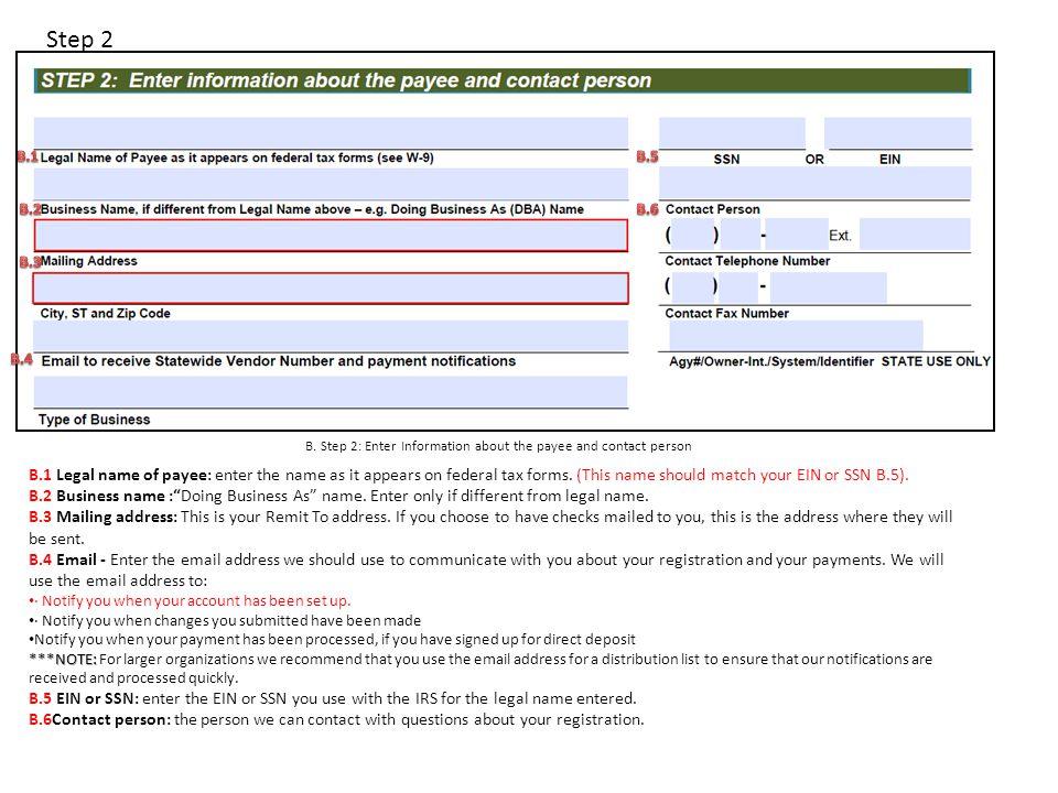 Step 3 &4 C.Step 3: Select Payment Option D.
