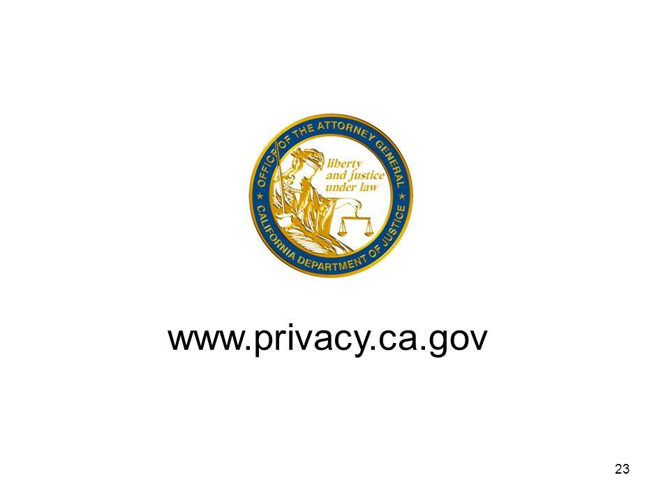 23 www.privacy.ca.gov