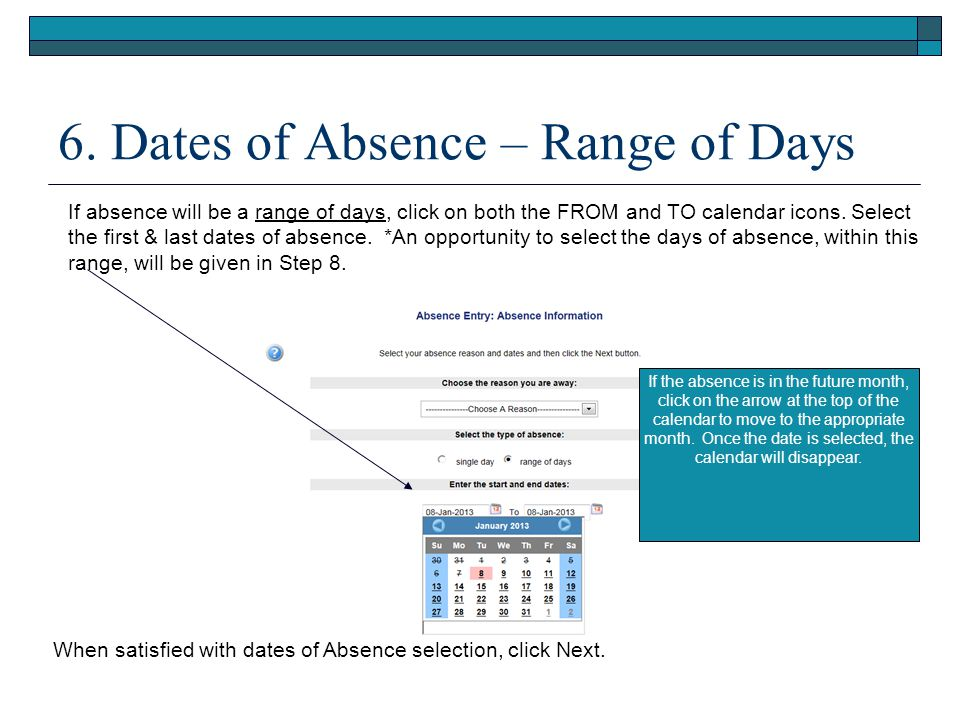 7.Absence Schedule Details This screen displays an individual employee's regular schedule.