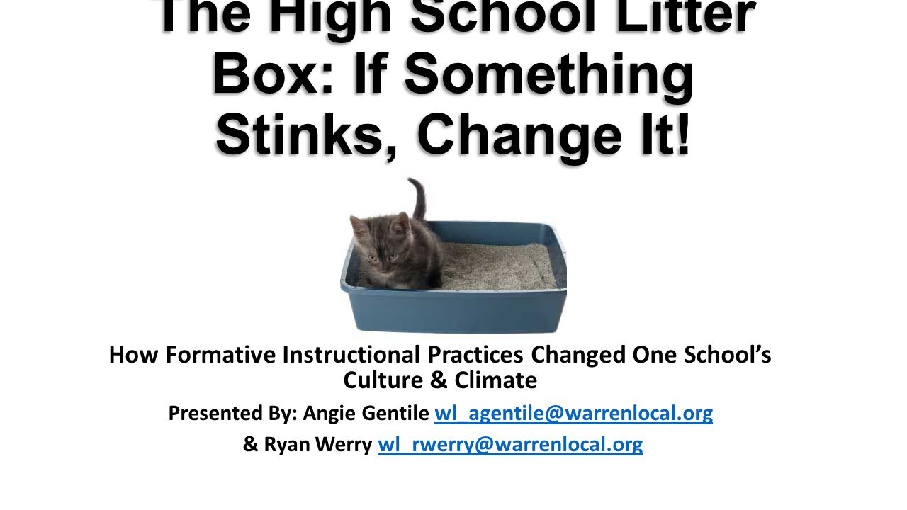 The High School Litter Box: If Something Stinks, Change It.