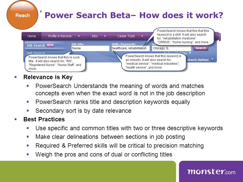 Classic Search – How does it work.