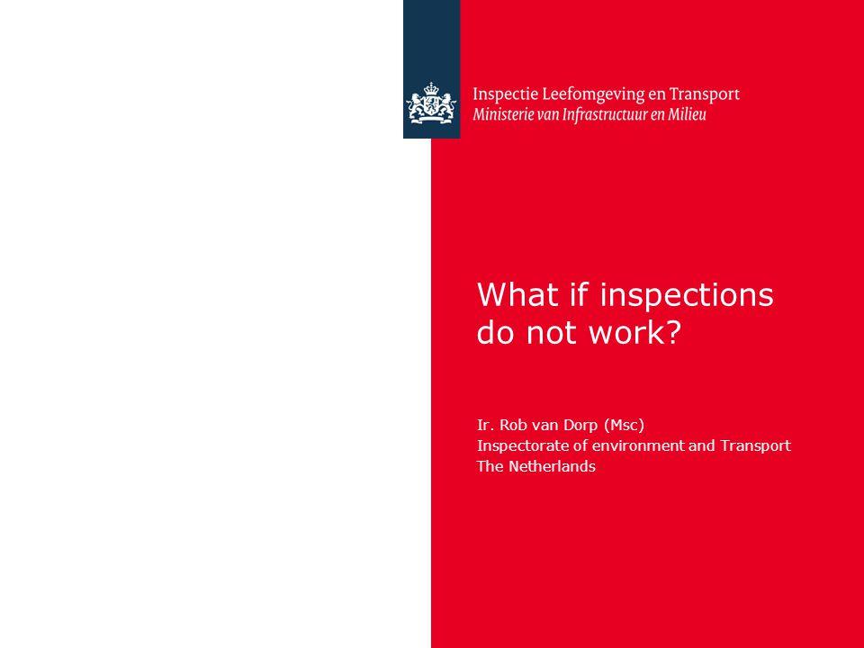 Inspectie Leefomgeving en Transport Relentsless compliance problems Sometimes when regulation and inspections simply do not work.