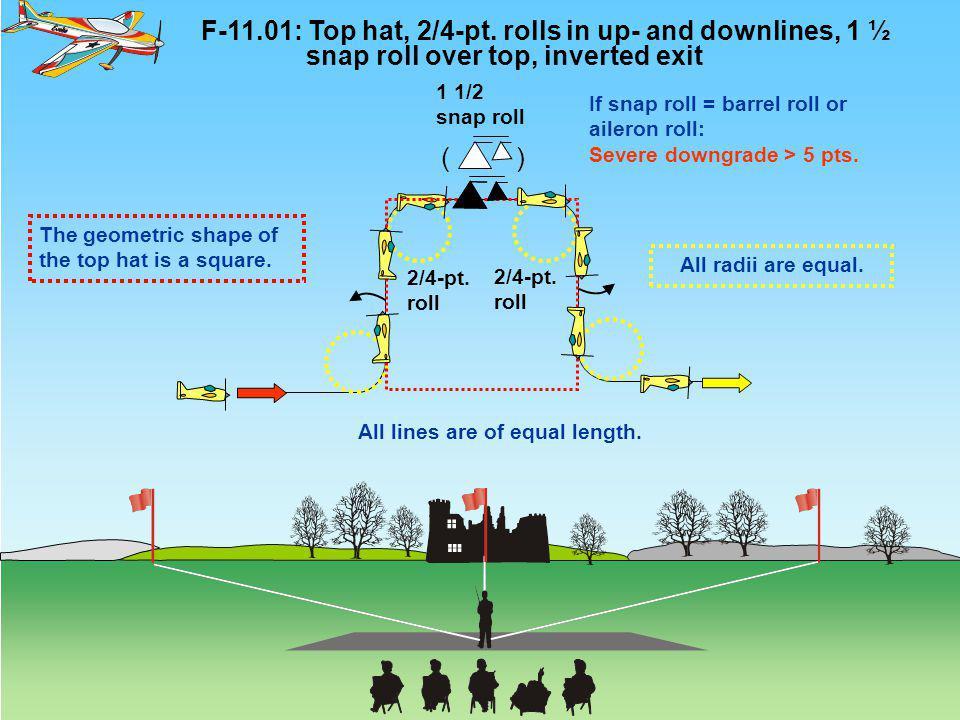 ( ) F-11.01: Top hat, 2/4-pt.