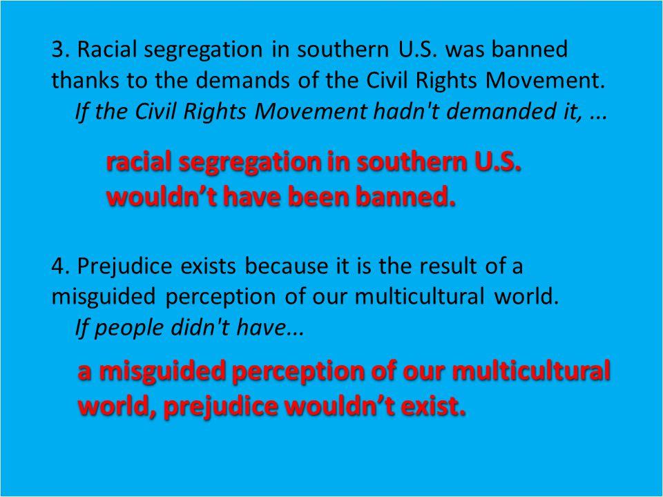 3. Racial segregation in southern U.S.