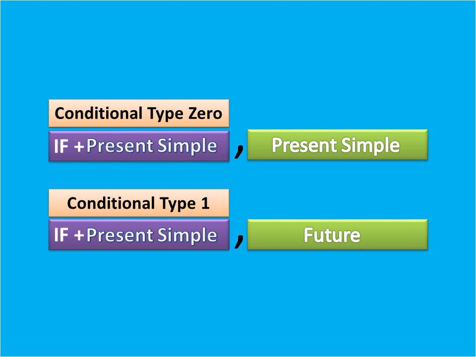 IF +,, Conditional Type Zero Conditional Type 1