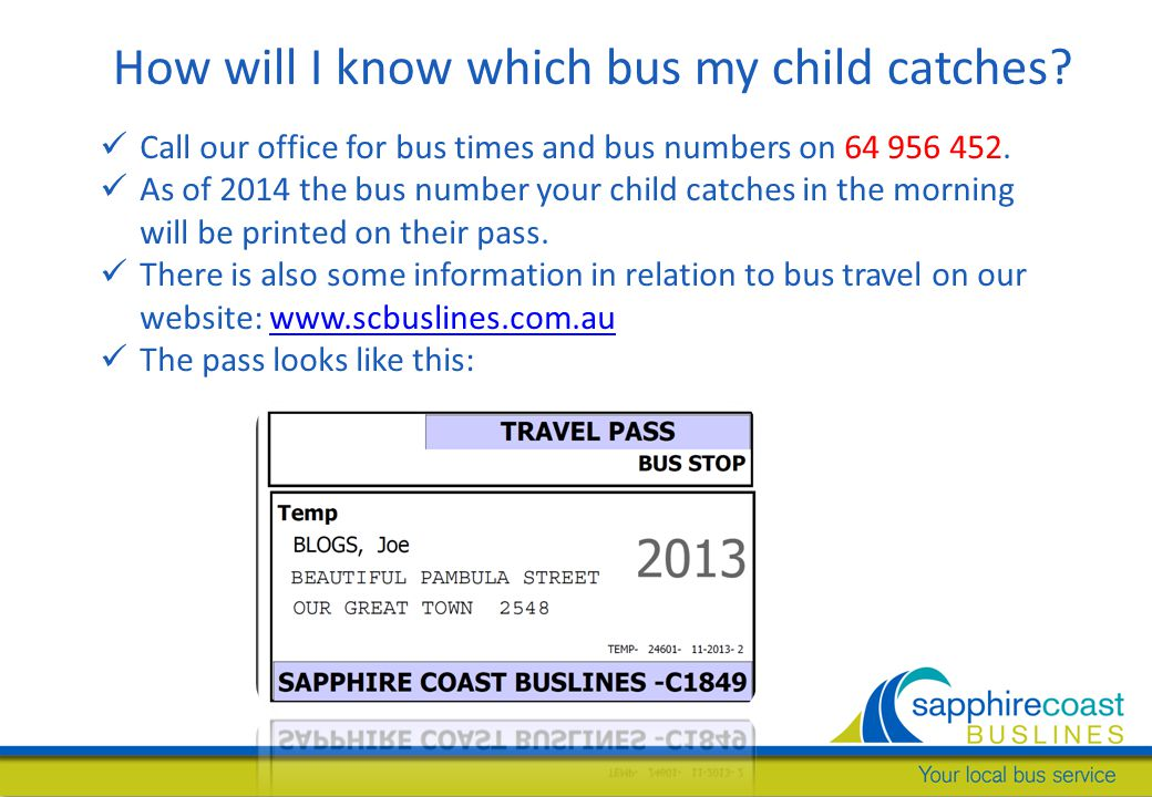 How will I know which bus my child catches.